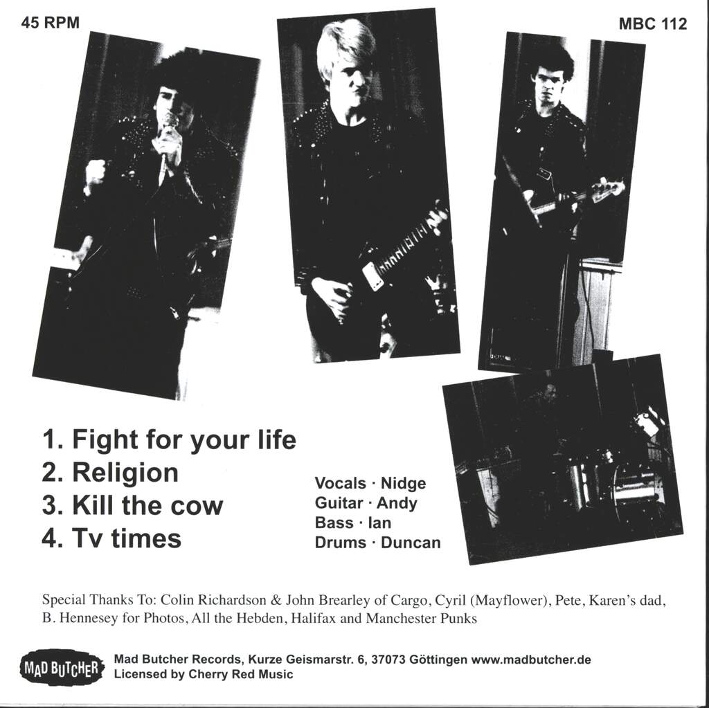 """The Crash: Fight For Your Life, 7"""" Single (Vinyl)"""