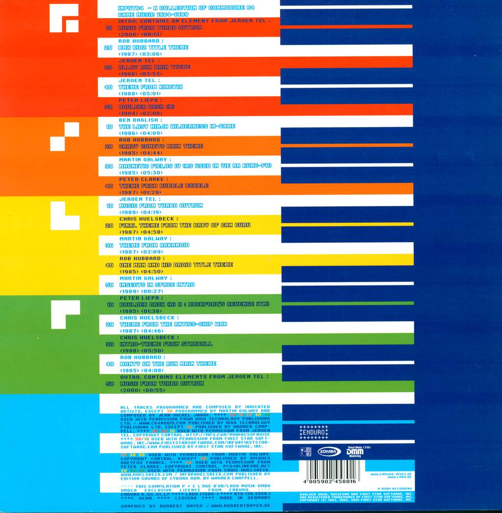 Various: Input 64: A Collection Of Commodore 64 Game Music 1984-1989, 2×LP (Vinyl)