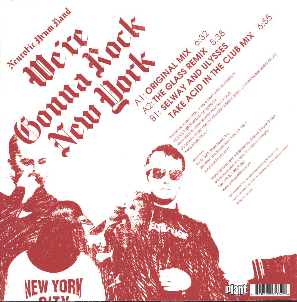 "Neurotic Drum Band: We're Gonna Rock New York, 12"" Maxi Single (Vinyl)"