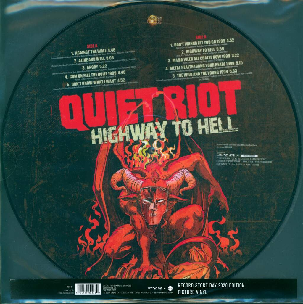 Quiet Riot: Highway To Hell RSD2020, LP (Vinyl)