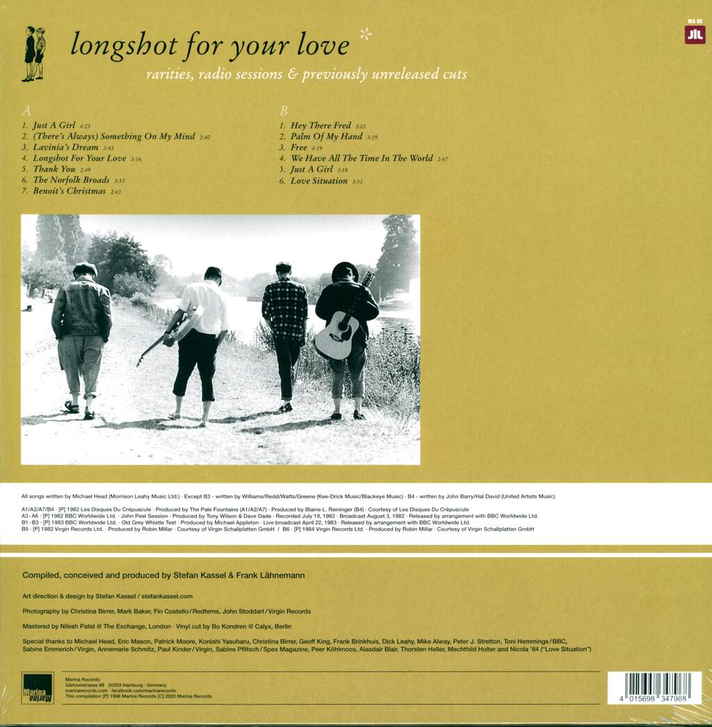 The Pale Fountains: Longshot For Your Love, LP (Vinyl)