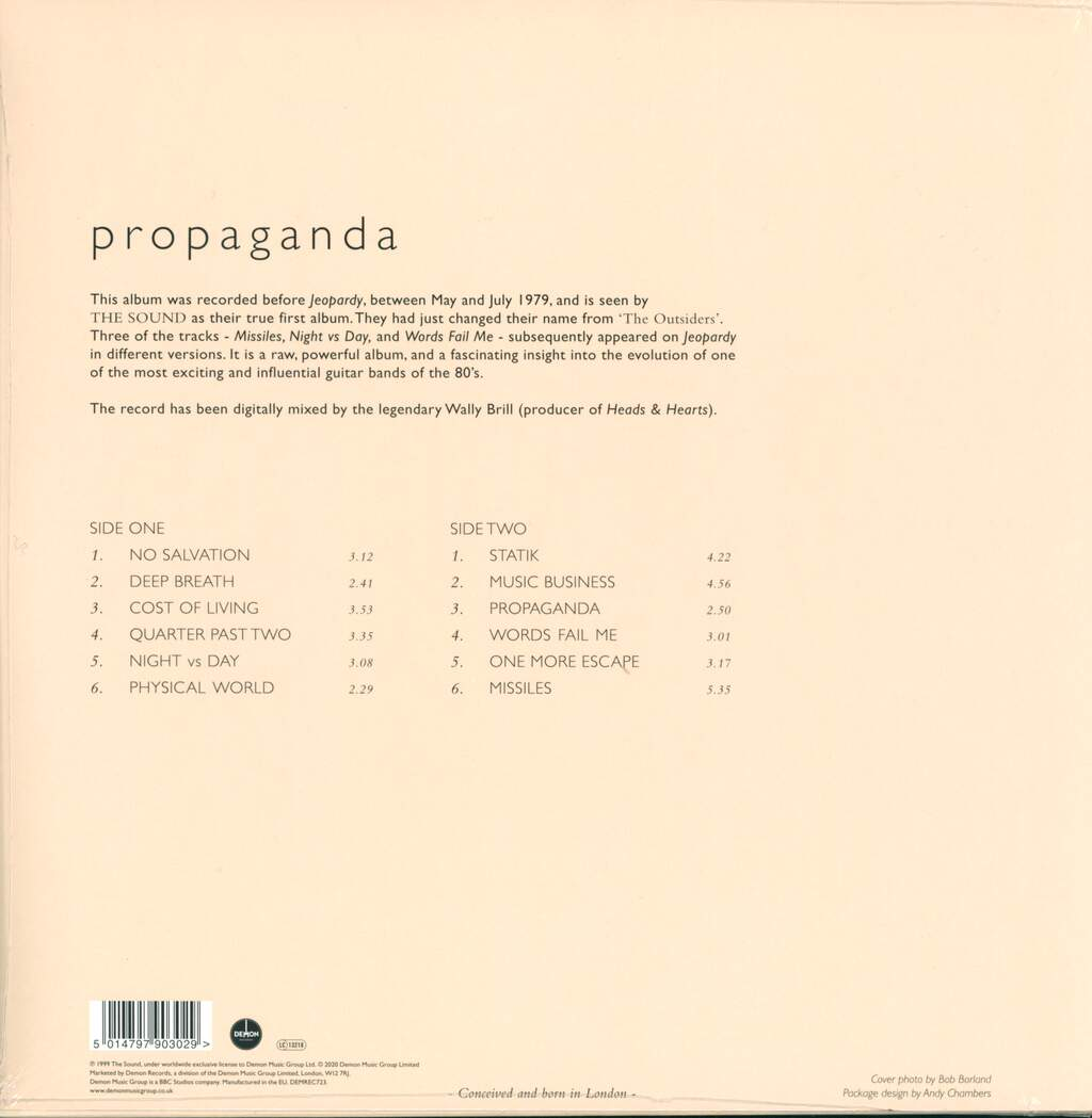 The Sound: Propaganda, LP (Vinyl)