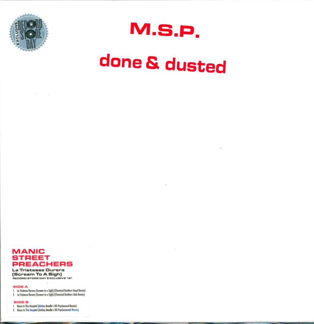 "Manic Street Preachers: Done & Dusted, 12"" Maxi Single (Vinyl)"