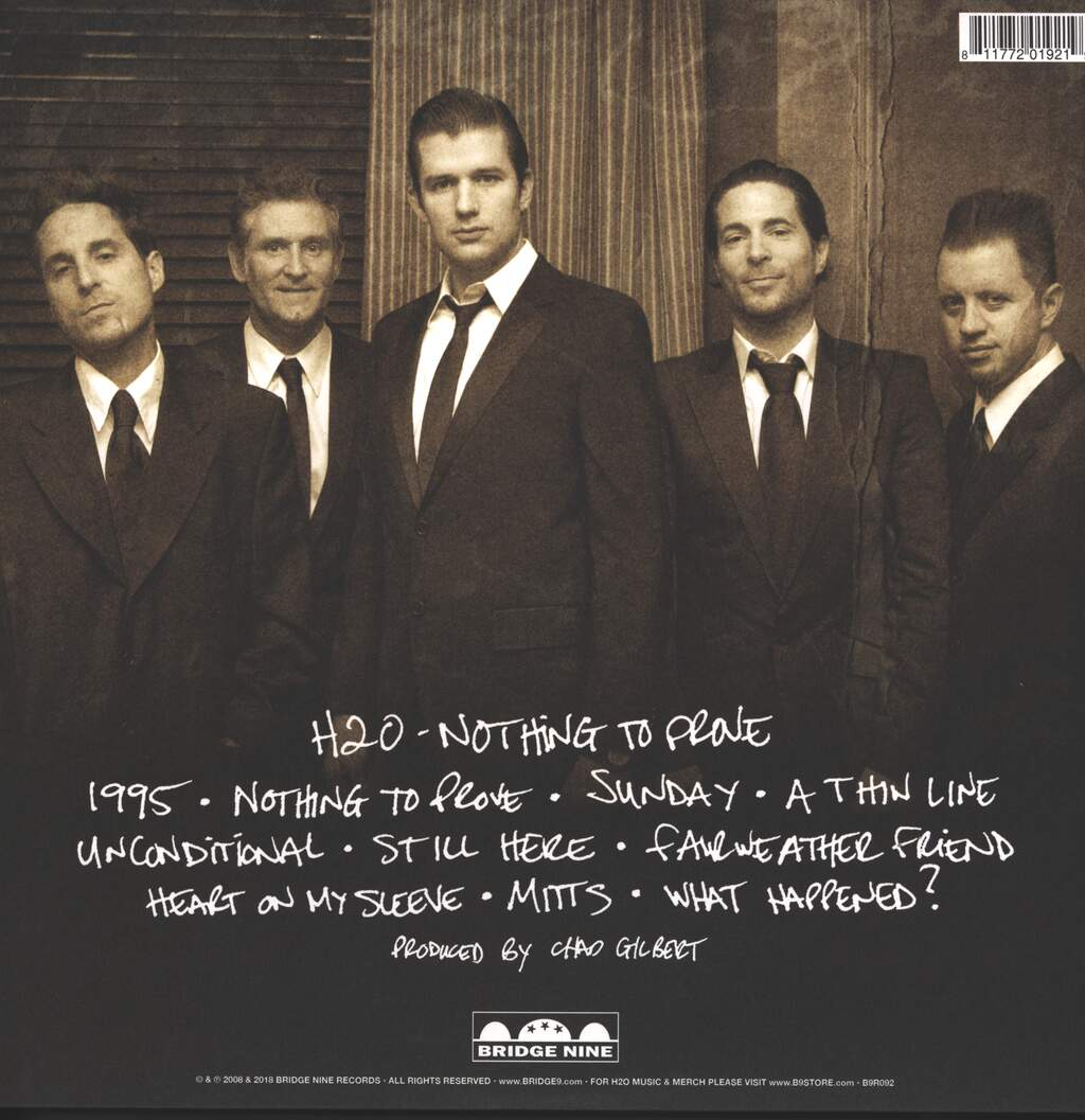 H2O: Nothing To Prove, LP (Vinyl)