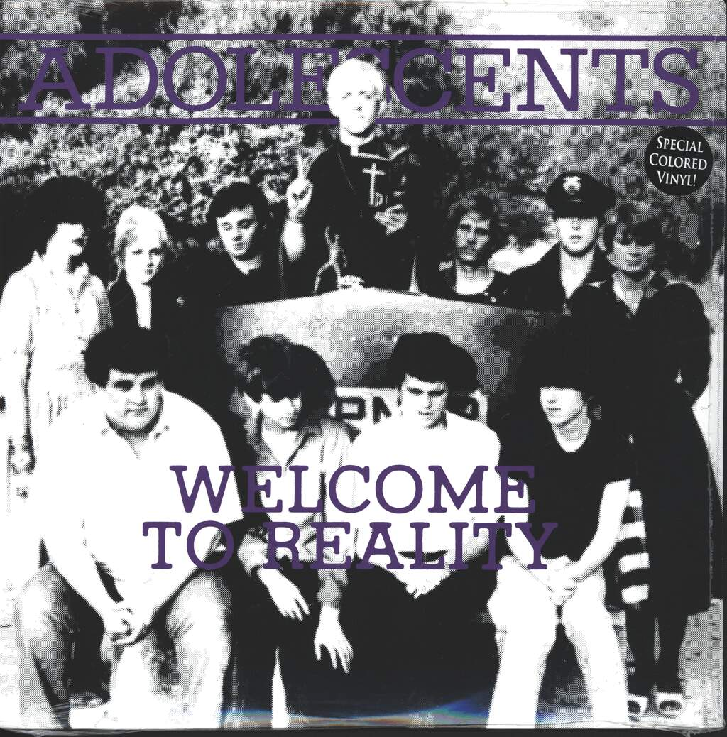 """Adolescents: Welcome To Reality, 10"""" Vinyl EP"""