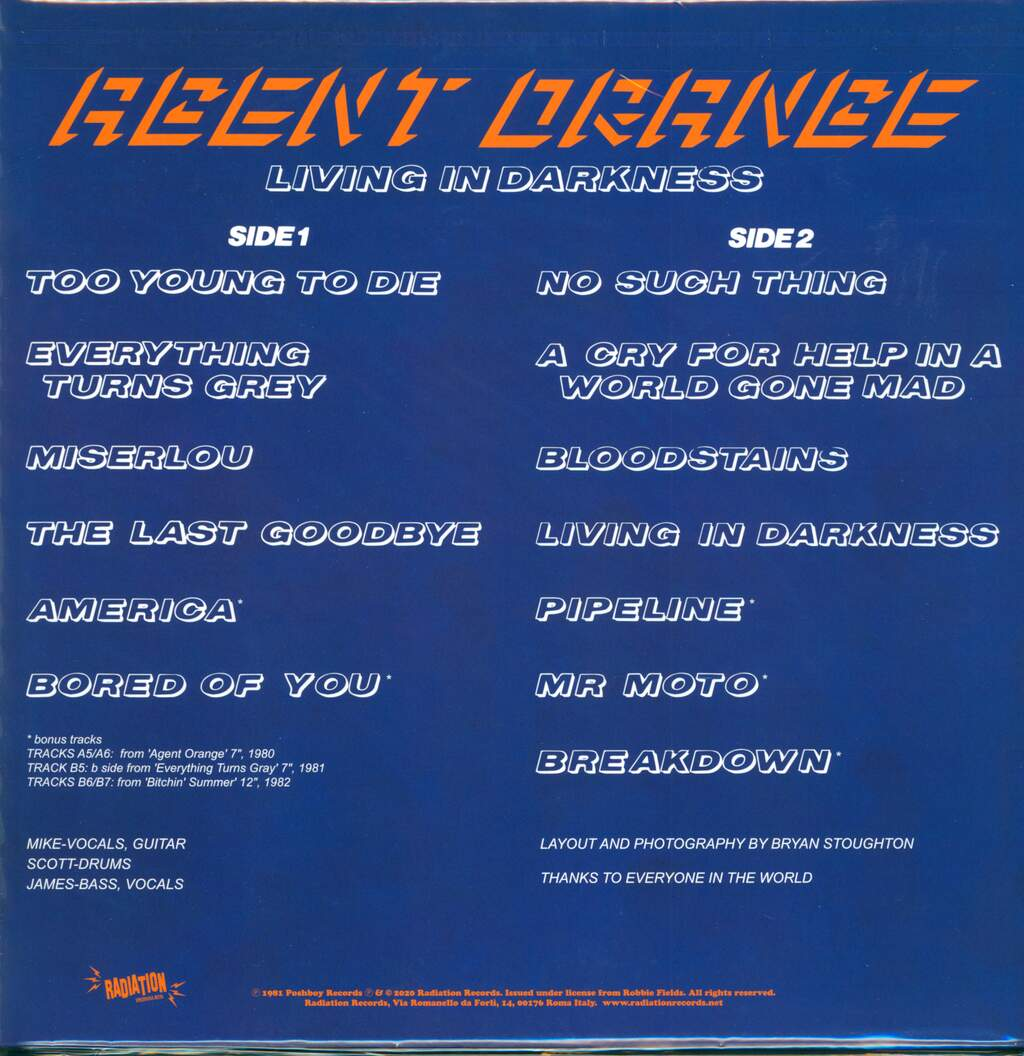 Agent Orange: Living In Darkness, LP (Vinyl)
