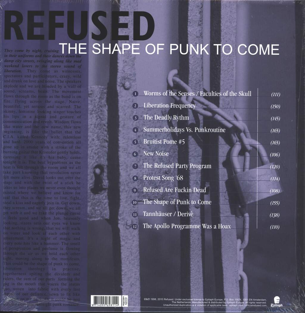 Refused: The Shape Of Punk To Come (A Chimerical Bombination In 12 Bursts), 2×LP (Vinyl)