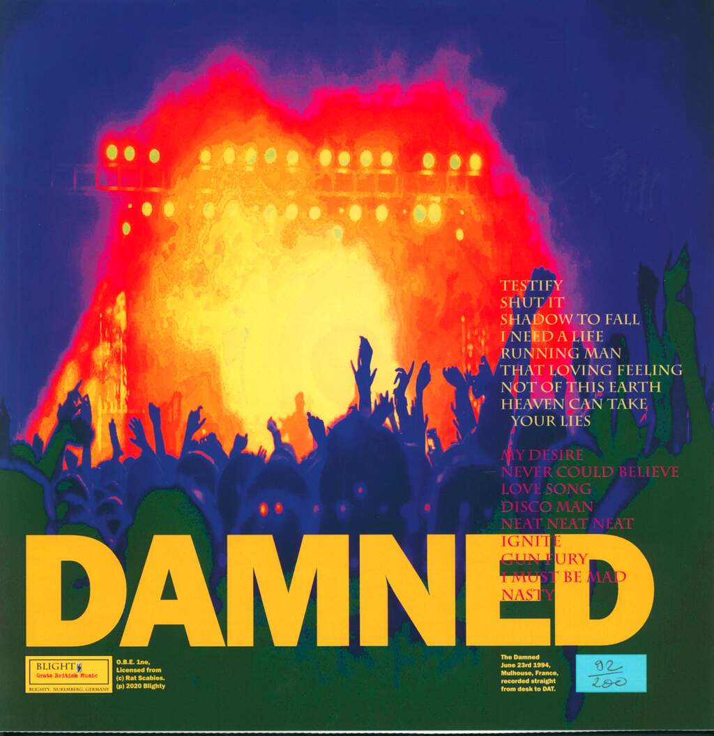 The Damned: Molten Lager, LP (Vinyl)
