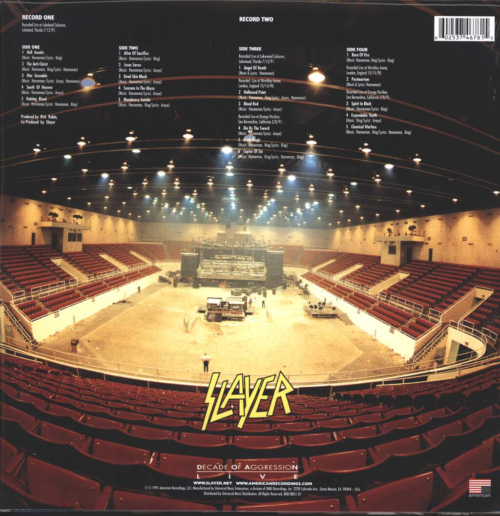 Slayer: Decade Of Aggression Live, 2×LP (Vinyl)