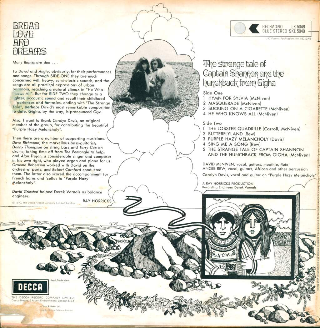 Bread Love And Dreams: The Strange Tale Of Captain Shannon And The Hunchback From Gigha, LP (Vinyl)