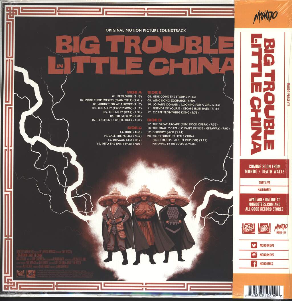 John Carpenter: Big Trouble In Little China (Original Motion Picture Soundtrack), 2×LP (Vinyl)