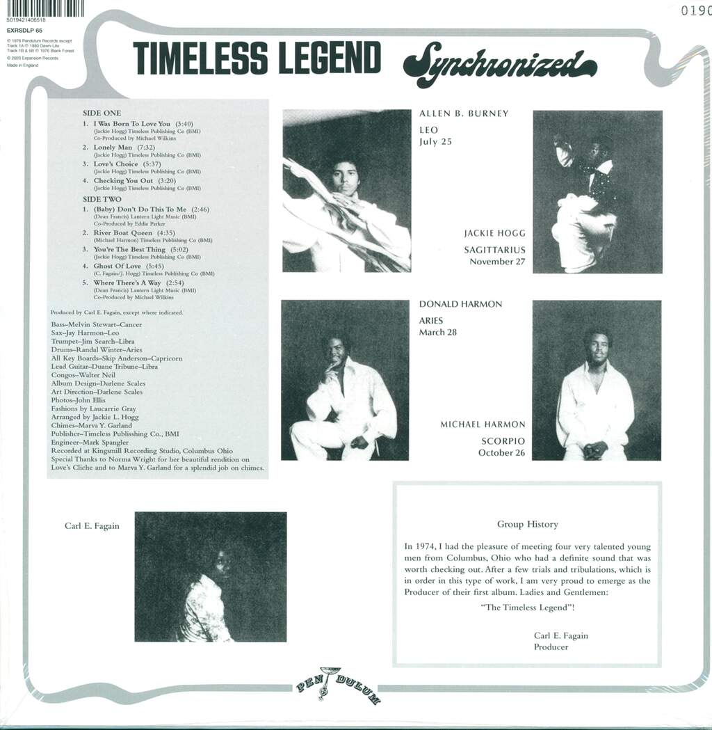 Timeless Legend: Synchronized, LP (Vinyl)