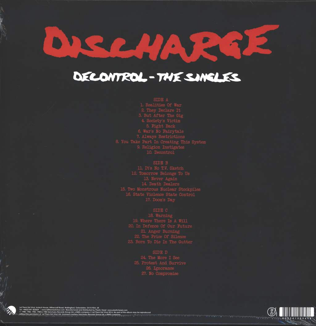 Discharge: Decontrol - The Singles, 2×LP (Vinyl)