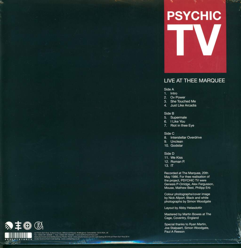 Psychic TV: Live At Thee Marquee, 2×LP (Vinyl)