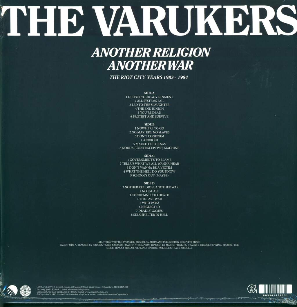 The Varukers: Another Religion Another War - The Riot City Years 1983-1984, 2×LP (Vinyl)