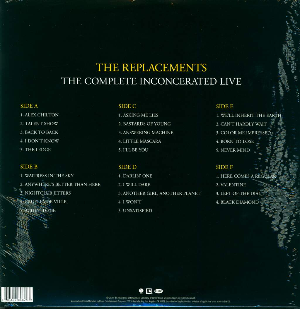 The Replacements: The Complete Inconcerated Live, LP (Vinyl)
