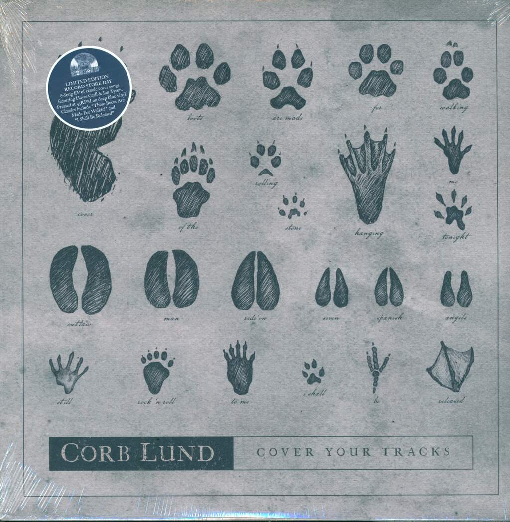 "Corb Lund: Cover Your Tracks, 12"" Maxi Single (Vinyl)"