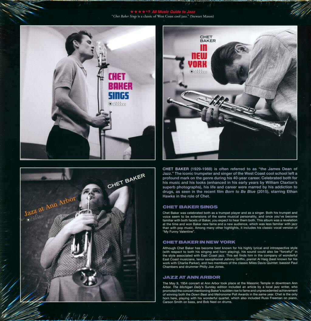 Chet Baker: Young Chet - A Jazz Portrait by William Claxton, 3×LP (Vinyl)