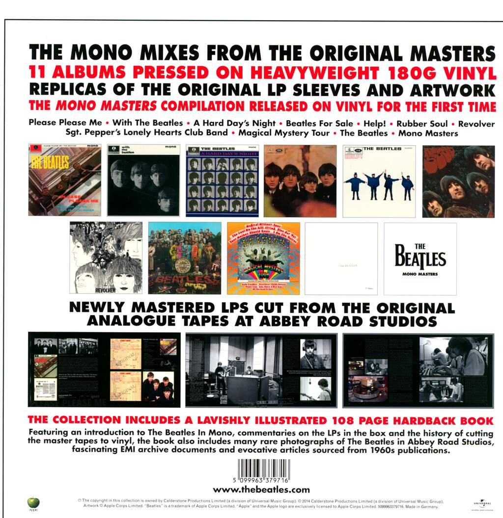 The Beatles: The Beatles In Mono, 15×LP (Vinyl)