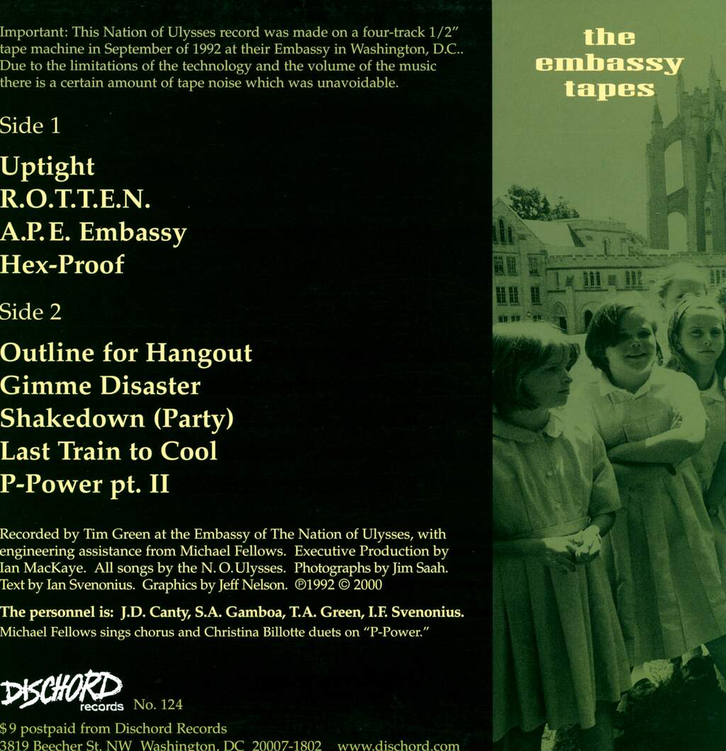 The Nation Of Ulysses: The Embassy Tapes, LP (Vinyl)