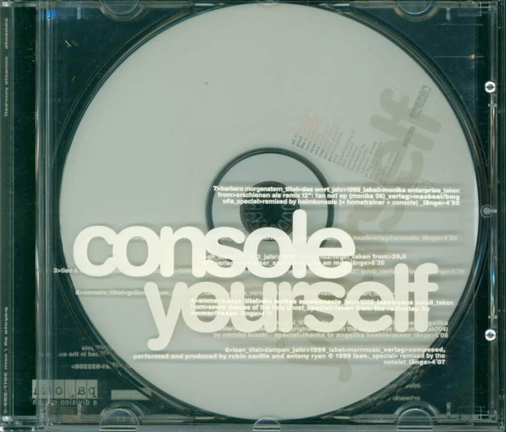 Console: Console Yourself, CD