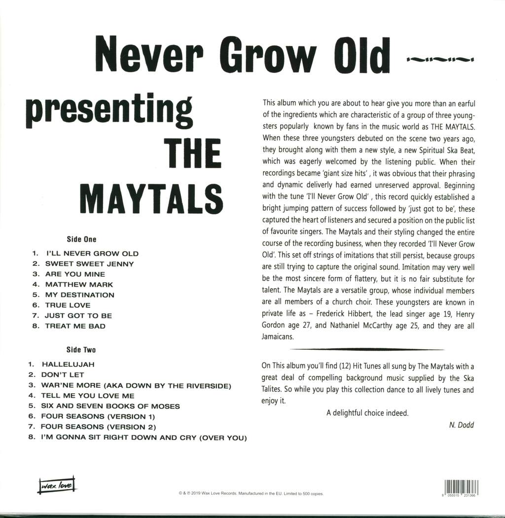 The Maytals: Never Grow Old, LP (Vinyl)