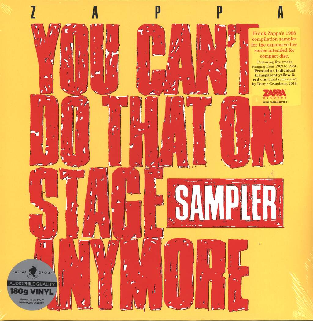 Frank Zappa: You Can't Do That On Stage Anymore (Sampler), 2×LP (Vinyl)