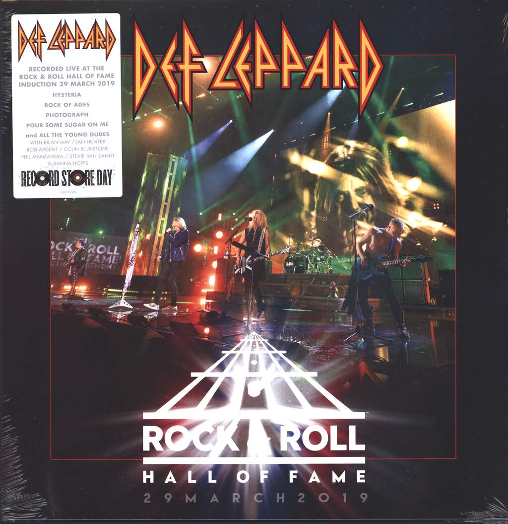 """Def Leppard: Rock & Roll Hall Of Fame 29 March 2019, 12"""" Maxi Single (Vinyl)"""