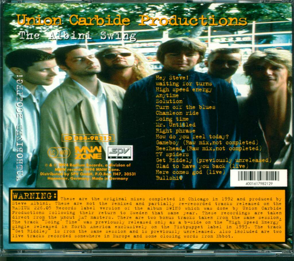 Union Carbide Productions: The Albini Swing, CD