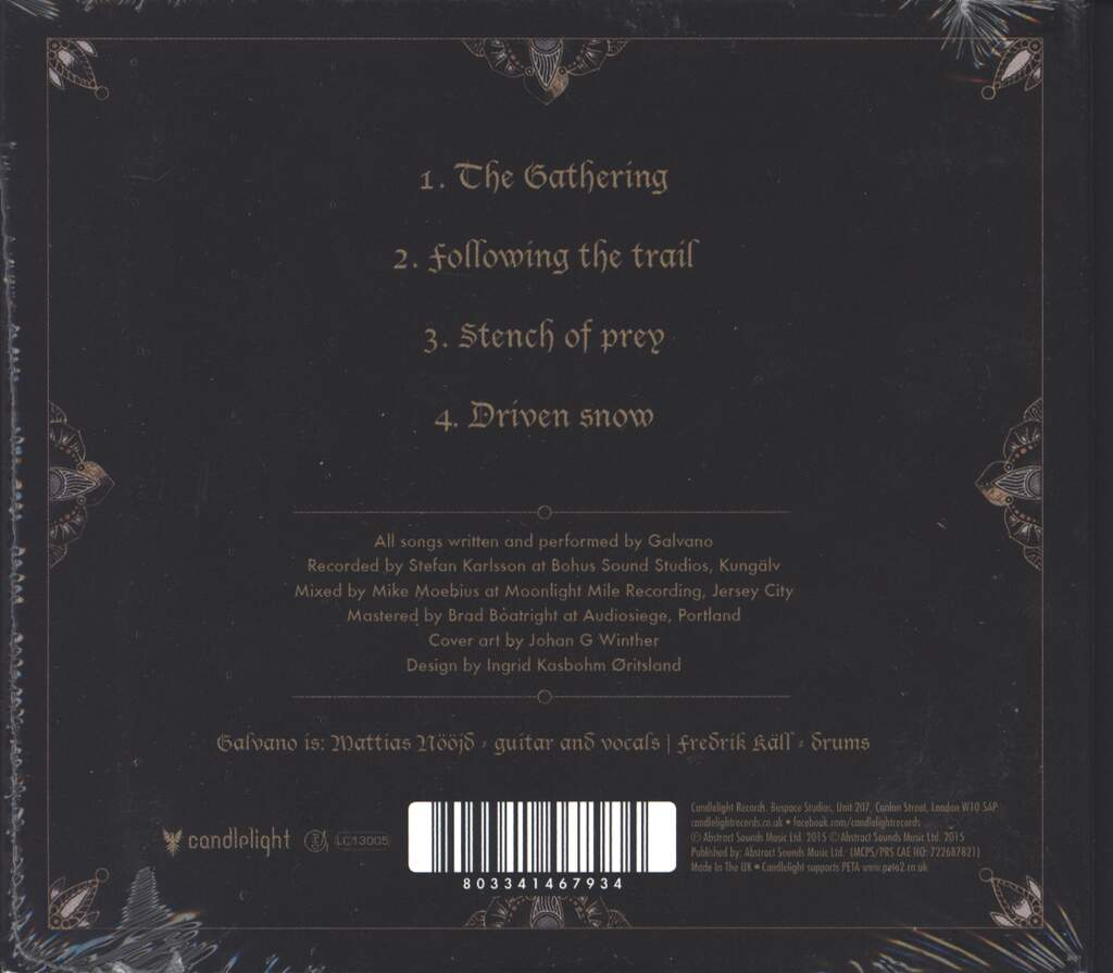 Galvano: Trail Of The Serpent, CD