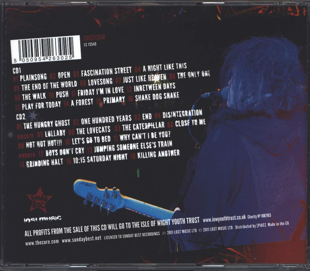 The Cure: Bestival Live 2011, 2×CD