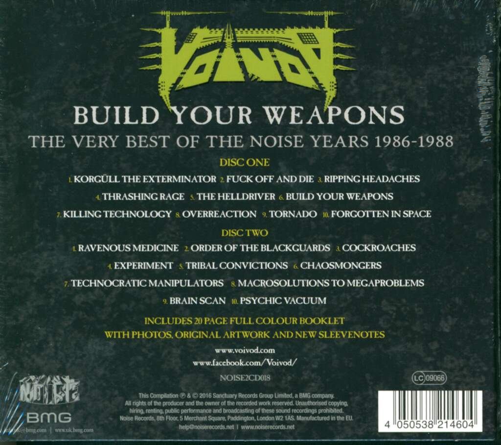 Voivod: Build Your Weapons The Very Best Of The Noise Years 1986-1988, 2×CD