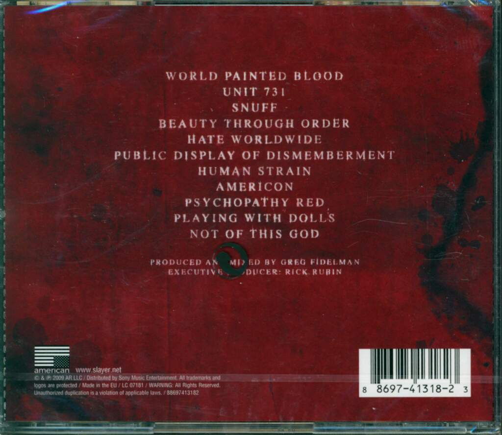 Slayer: World Painted Blood, CD