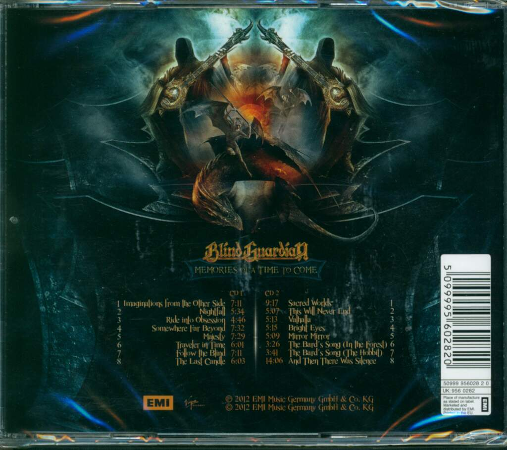 Blind Guardian: Memories Of A Time To Come, 2×CD