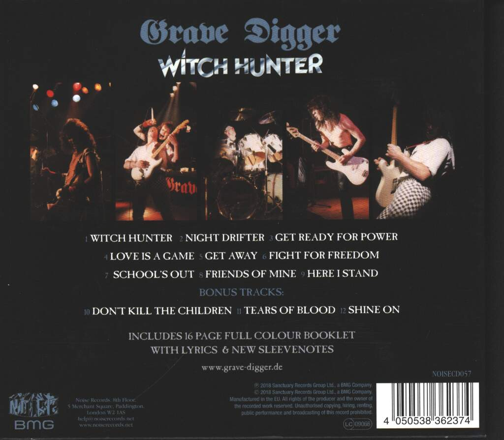 Grave Digger: Witch Hunter, CD
