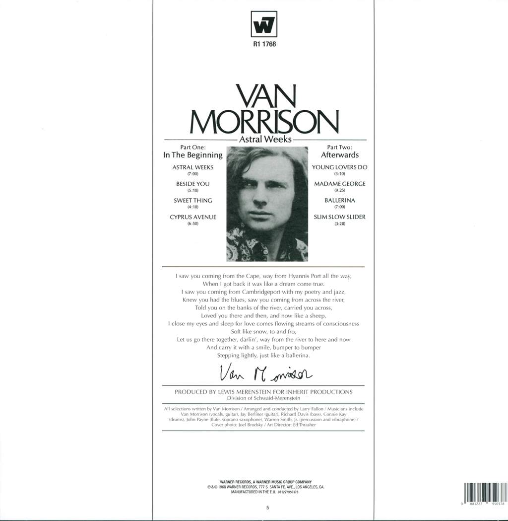 Van Morrison: Astral Weeks, LP (Vinyl)