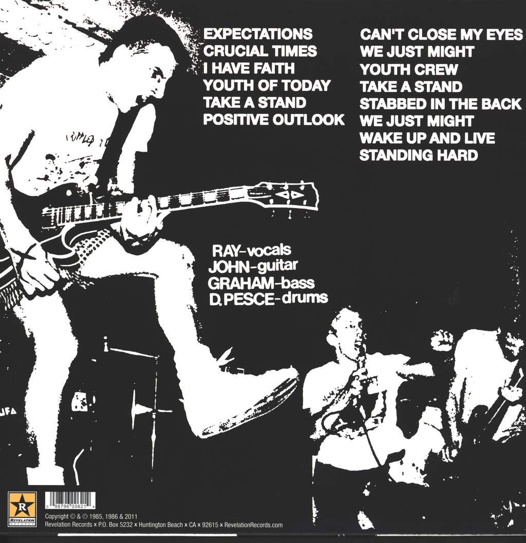 Youth Of Today: Can't Close My Eyes, LP (Vinyl)