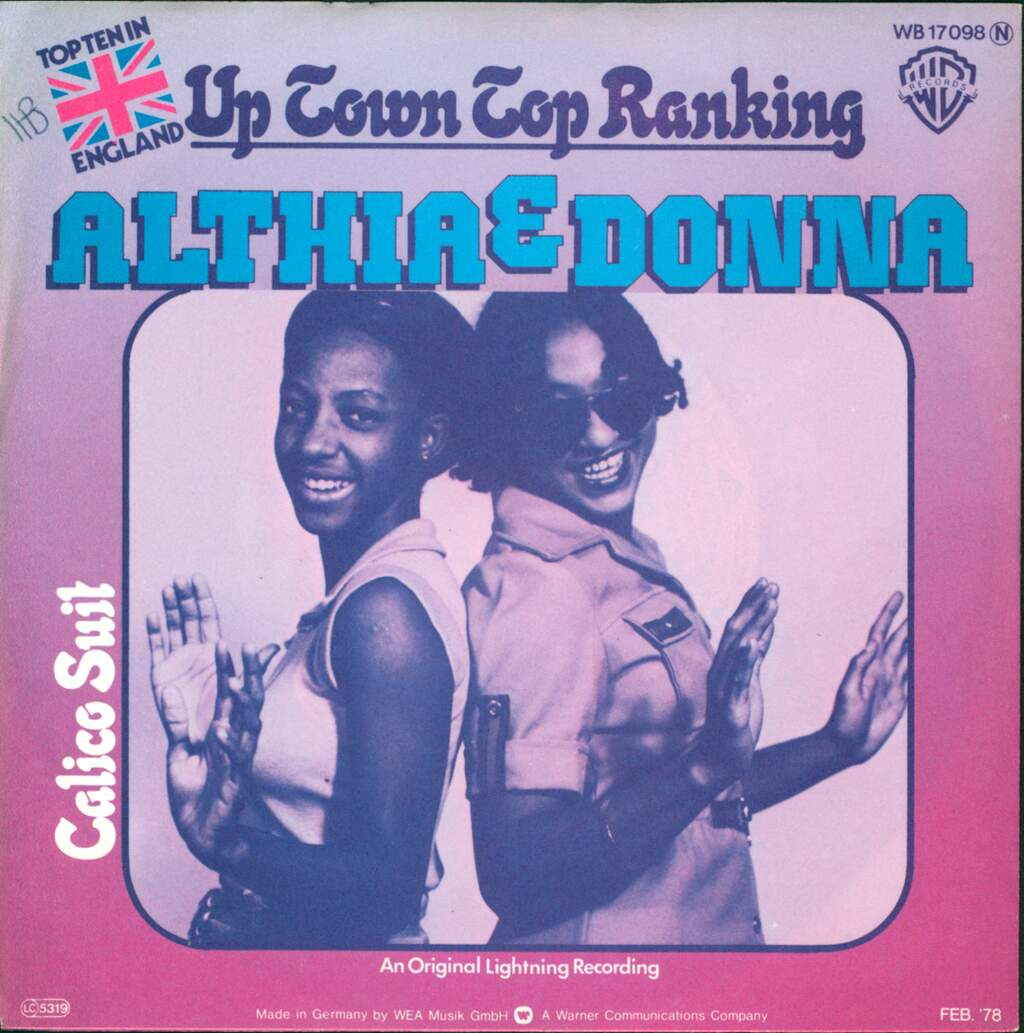 "Althea & Donna: Up Town Top Ranking, 7"" Single (Vinyl)"