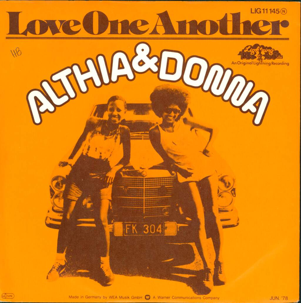 "Althea & Donna: Love One Another, 7"" Single (Vinyl)"