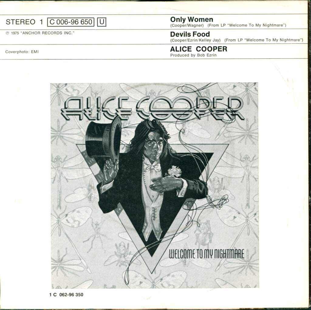 "Alice Cooper: Only Women, 7"" Single (Vinyl)"
