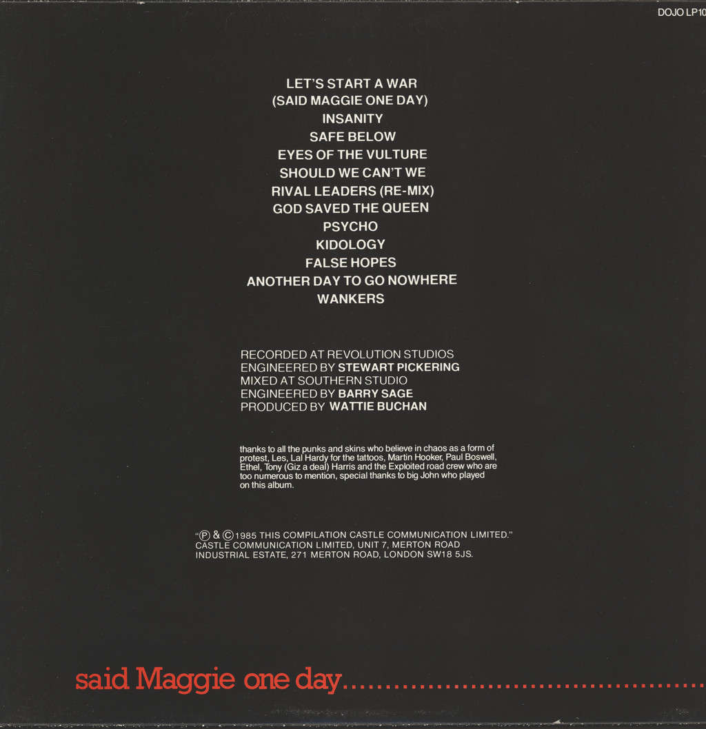 Exploited: Let's Start A War ... Said Maggie One Day, LP (Vinyl)