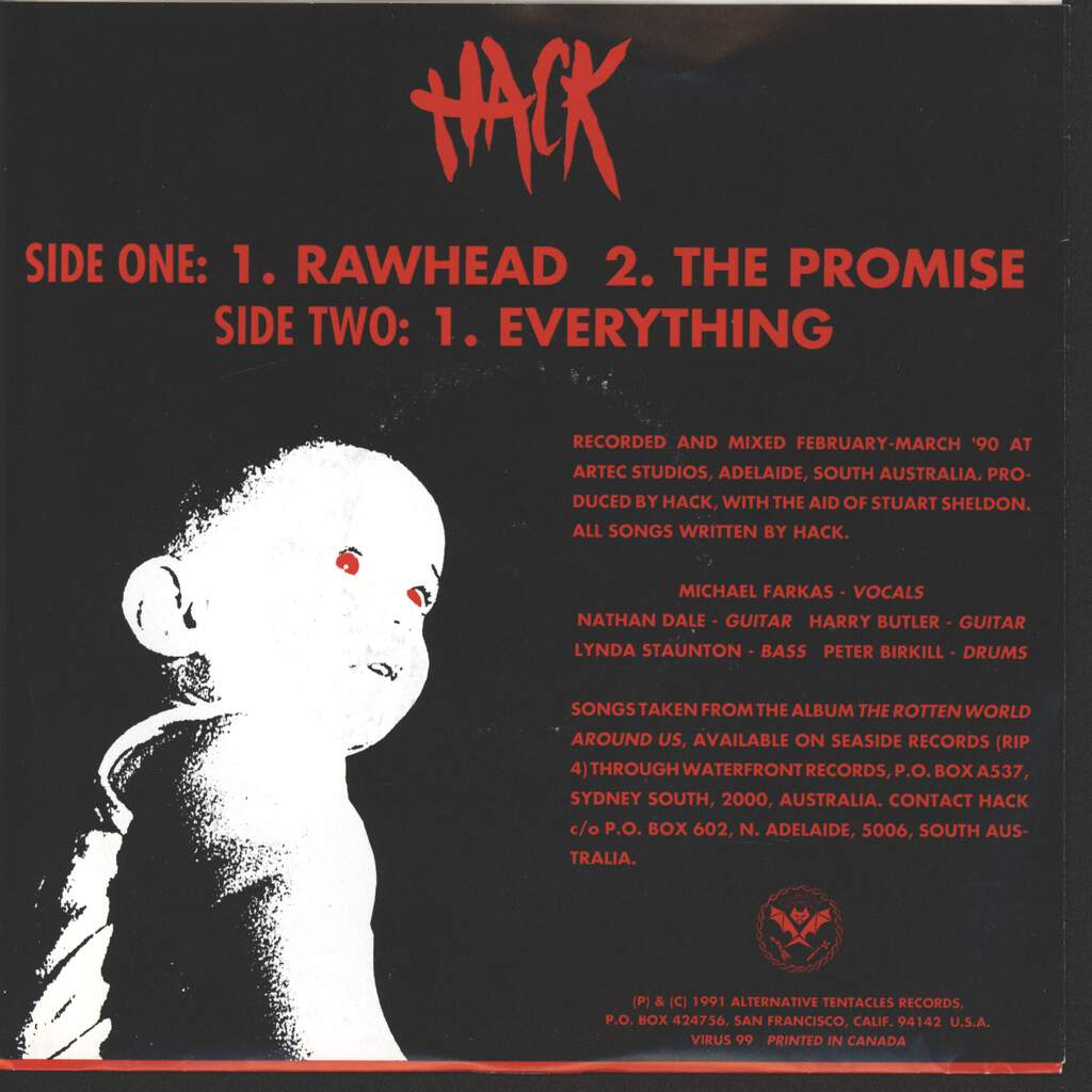 "Hack: Rawhead, 7"" Single (Vinyl)"