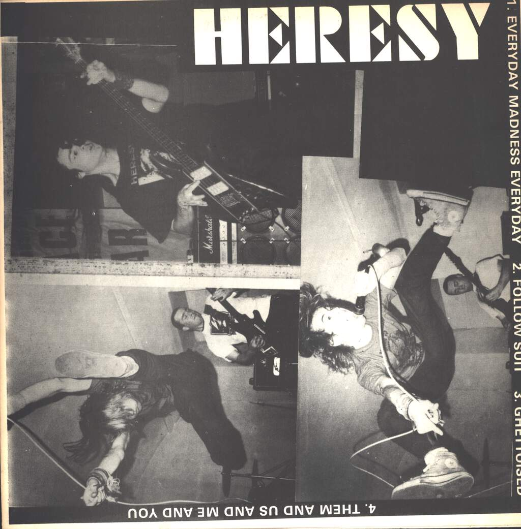 "Heresy: Heresy / Meatfly Split, 12"" Maxi Single (Vinyl)"
