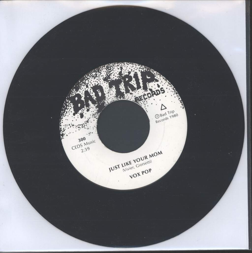 "Vox Pop: Cab Driver / Just Like Your Mom, 7"" Single (Vinyl)"