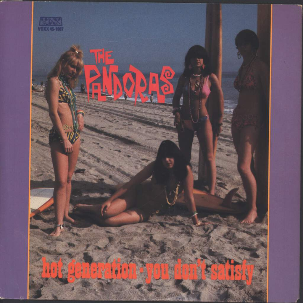 "The Pandoras: Hot Generation, 7"" Single (Vinyl)"