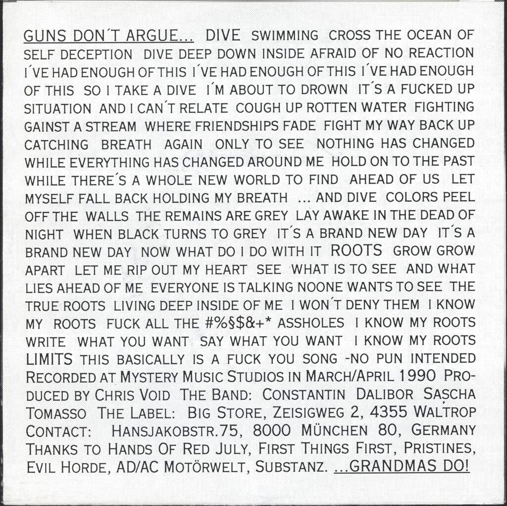 "Nonoyesno: Guns Don't Argue, 7"" Single (Vinyl)"