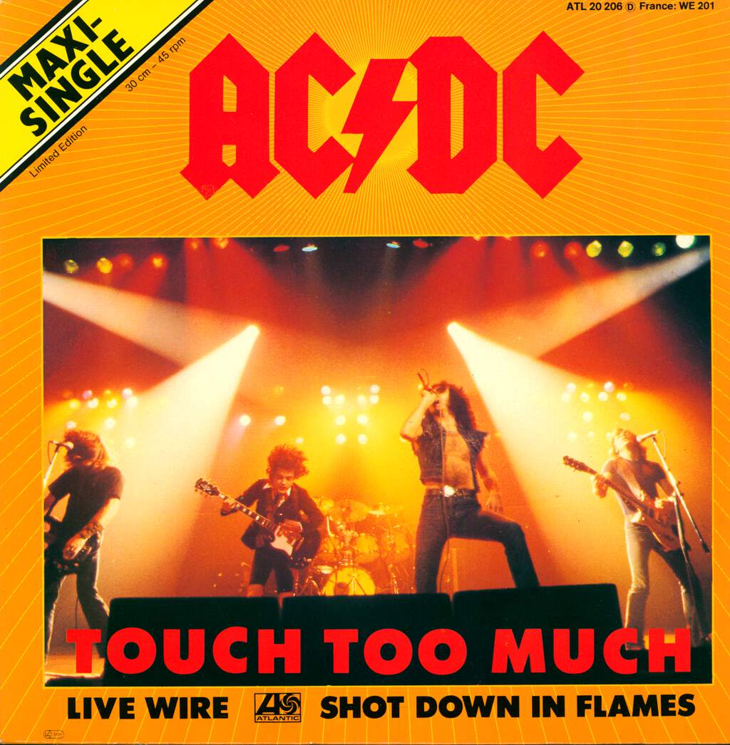 "AC/DC: Touch Too Much, 12"" Maxi Single (Vinyl)"