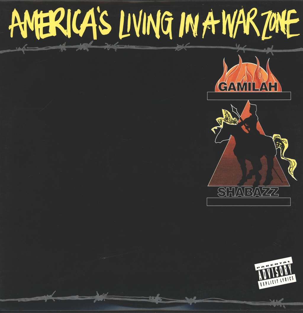 "Gamilah Shabazz: America's Living In A War Zone, 12"" Maxi Single (Vinyl)"