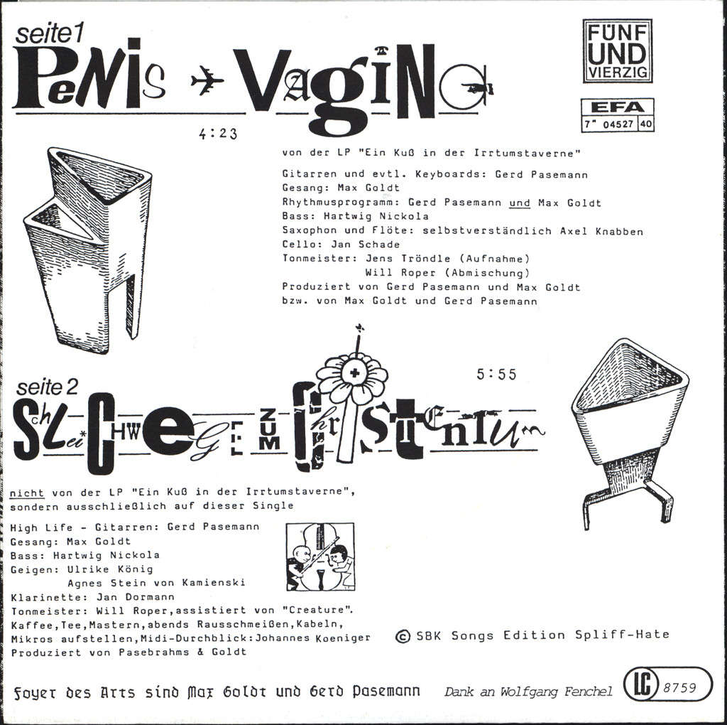 "Foyer Des Arts: Penis - Vagina, 7"" Single (Vinyl)"