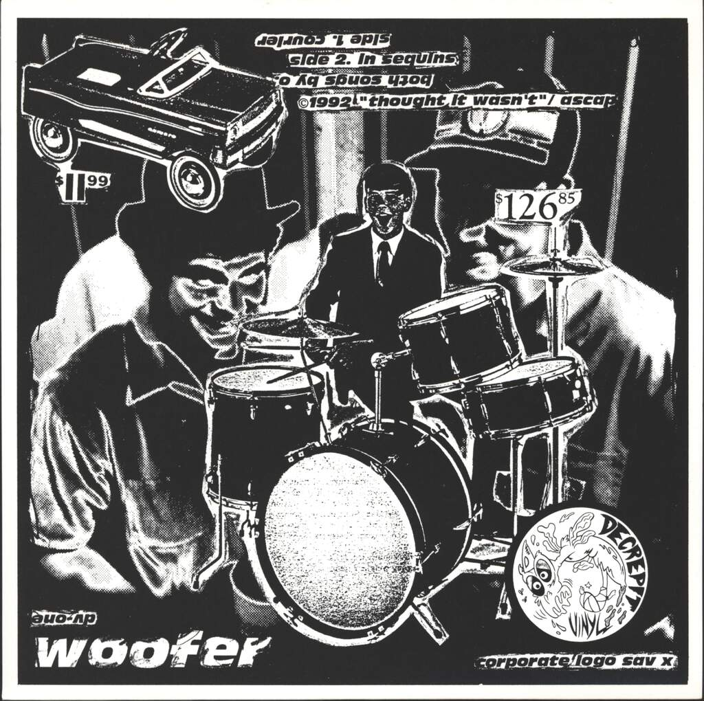"Woofer: Courier / In Sequins, 7"" Single (Vinyl)"